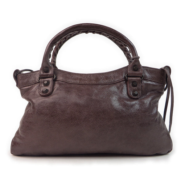 Balenciaga Agneau Classic First Chocolate back