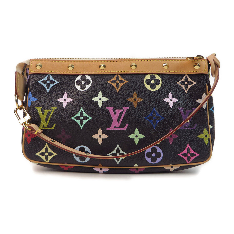 Louis Vuitton Multicolor Pochette Accessories Black front