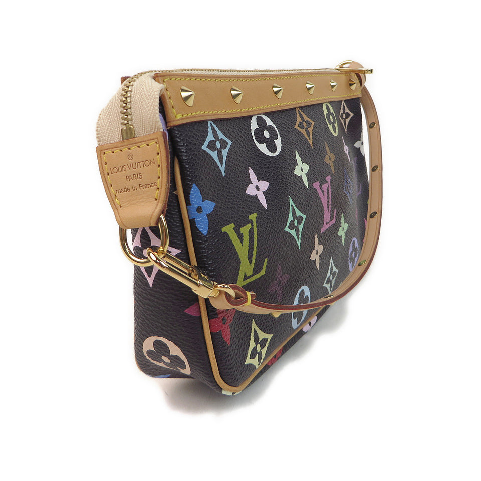 Louis Vuitton Multicolor Pochette Accessories Black side