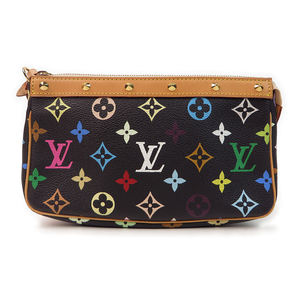 Louis Vuitton Multicolor Pochette Accessories Black back