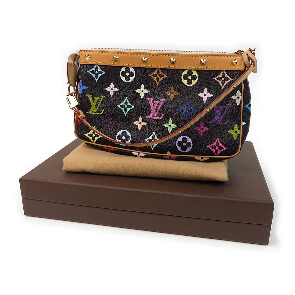 Louis Vuitton Multicolor Pochette Accessories Black with box