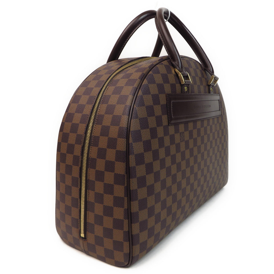 Louis Vuitton Damier Ebene Nolita 24 Heures Duffle Bag SIDE