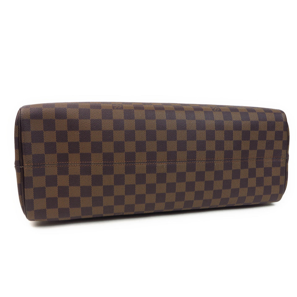 Louis Vuitton Damier Ebene Nolita 24 Heures Duffle Bag BOTTOM