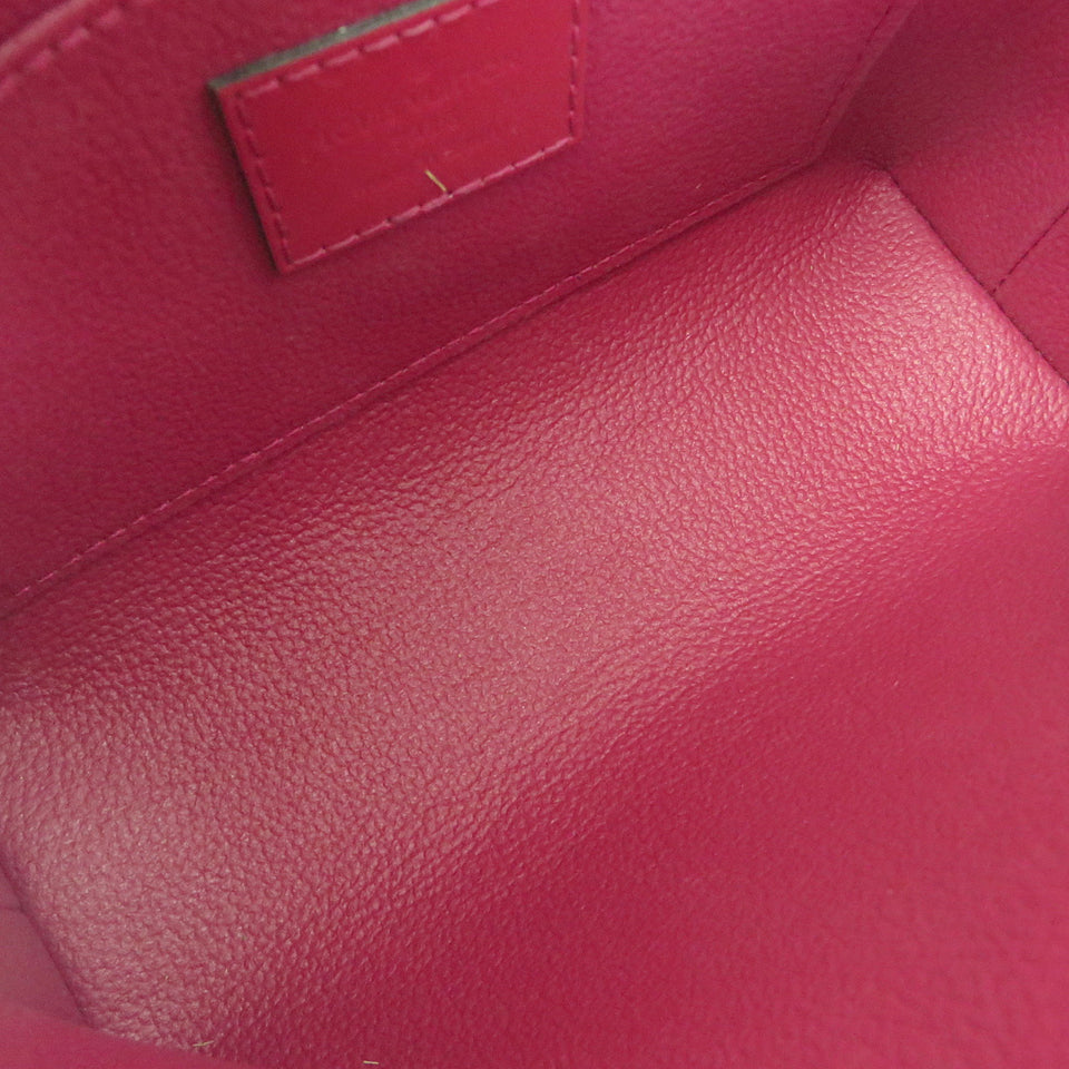 Louis Vuitton Vernis Cosmetic Pouch Magenta INSIDE