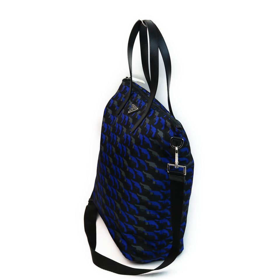 Prada Pistol Pattern Tessuto Nylon Shoulder Bag Side