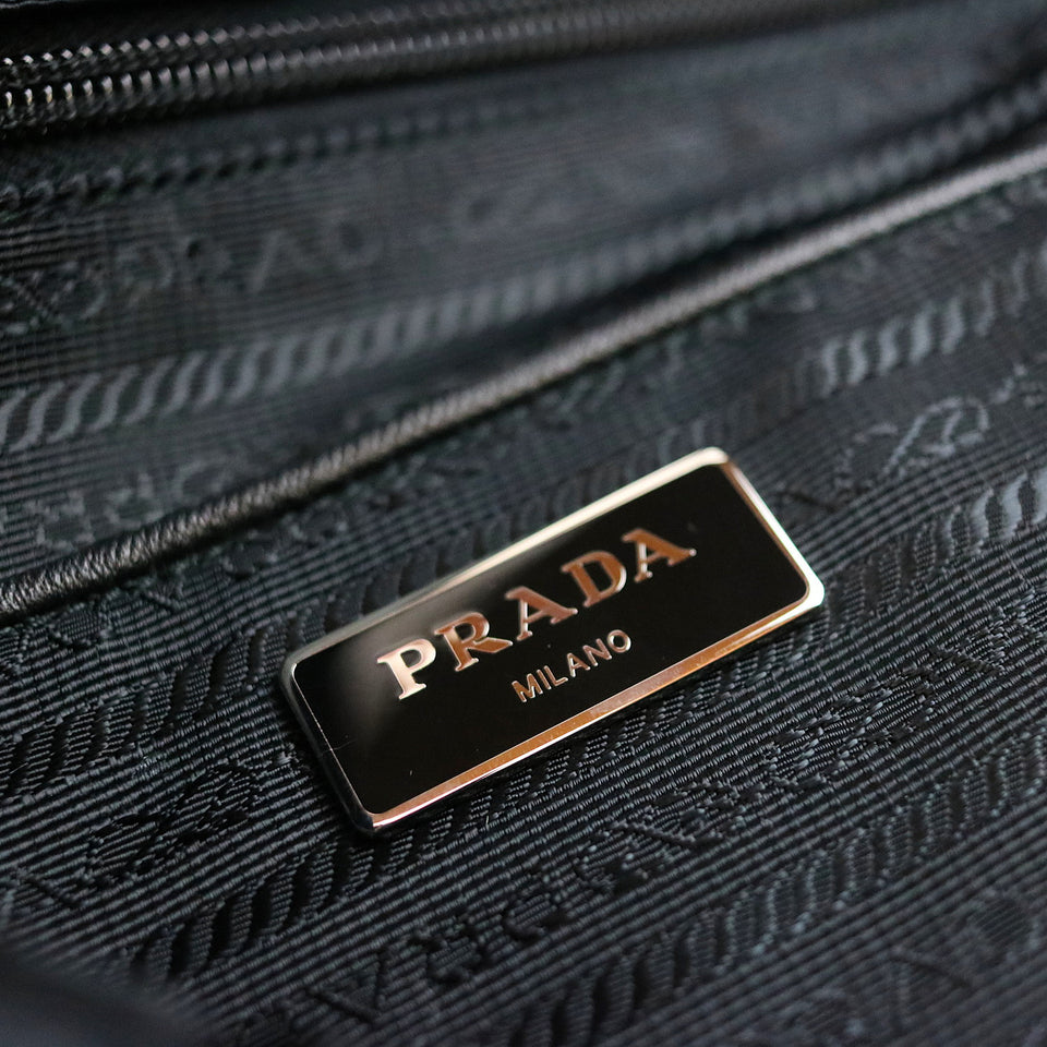 Prada Pistol Pattern Tessuto Nylon Shoulder Bag Interior Prada Logo
