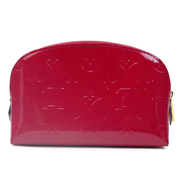 Louis Vuitton Vernis Cosmetic Pouch Magenta BACK