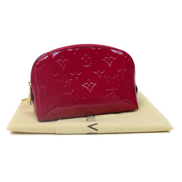 Louis Vuitton Vernis Cosmetic Pouch Magenta W DUST BAG