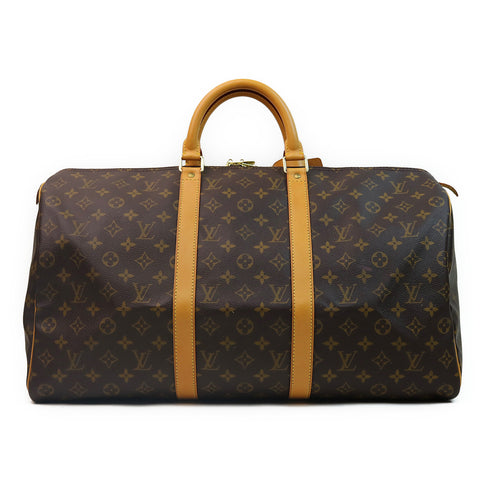 Louis Vuitton Monogram Keepall 50 Duffle Bag FRONT