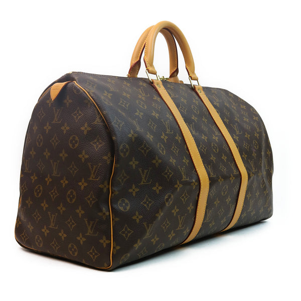Louis Vuitton Monogram Keepall 50 Duffle Bag SIDE