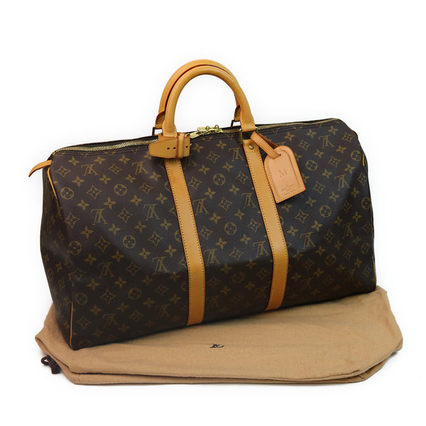 Louis Vuitton Monogram Keepall 50 Duffle Bag W DUST BAG