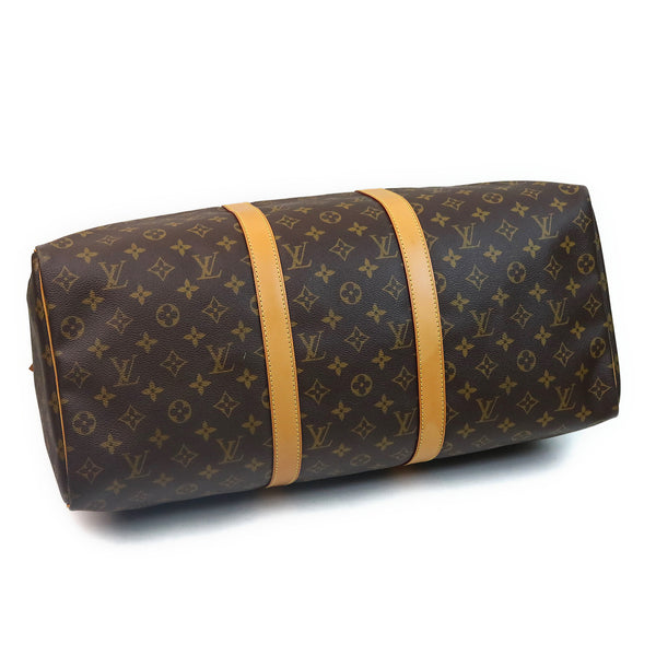 Louis Vuitton Monogram Keepall 50 Duffle Bag BOTTOM