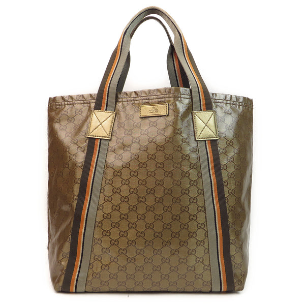 Gucci Crystal Monogram Tote FRONT