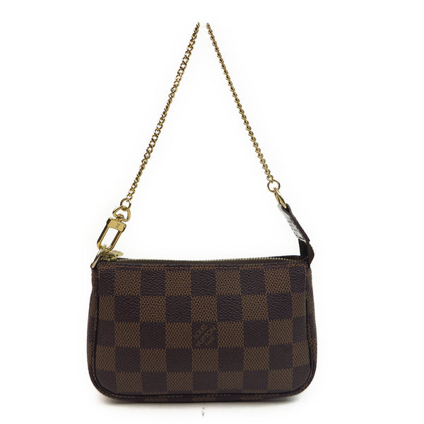 Louis Vuitton Damier Ebene Mini Pochette Accessories Front