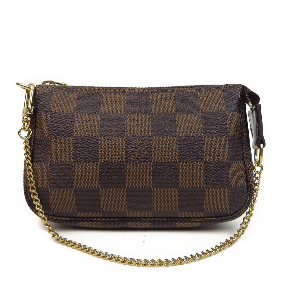 Louis Vuitton Damier Ebene Mini Pochette Accessories Front #2