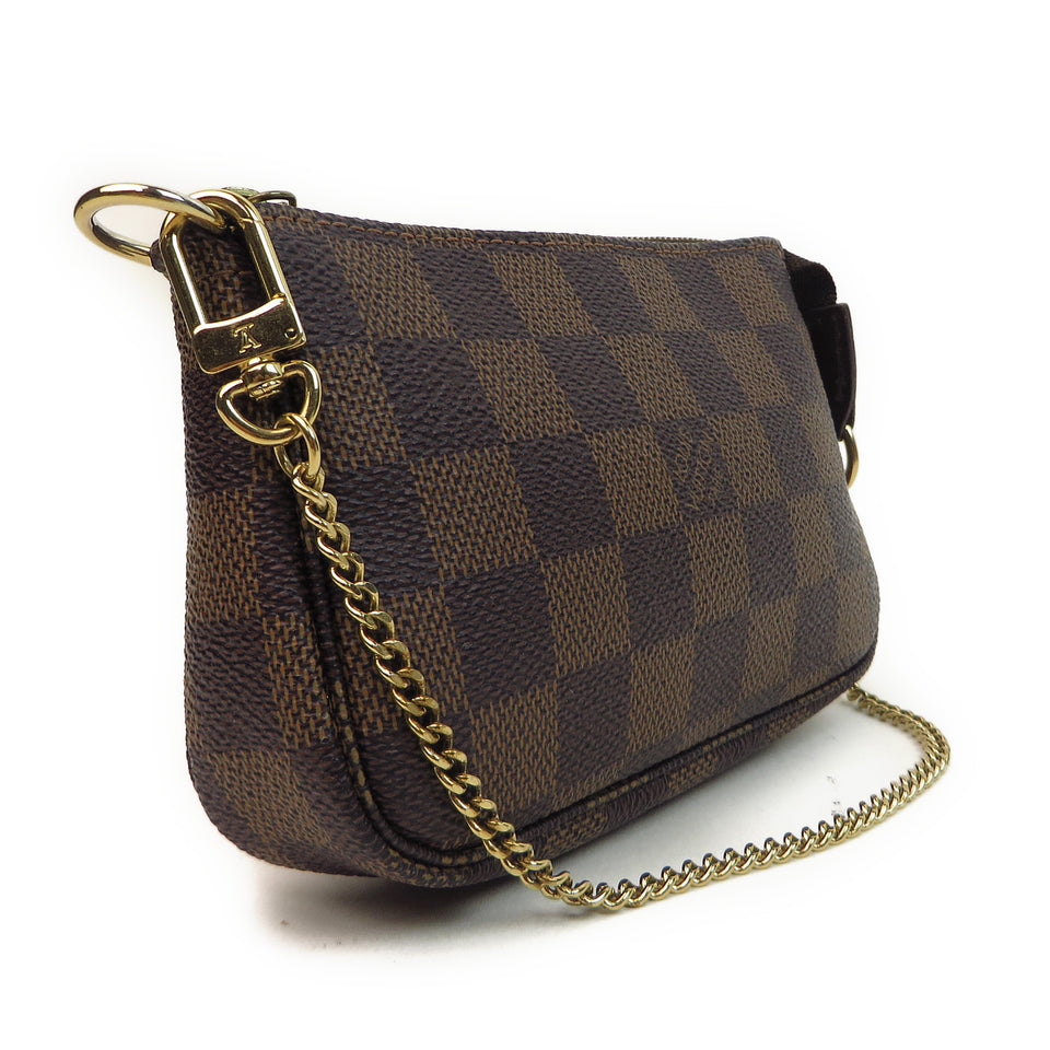 Louis Vuitton Damier Ebene Mini Pochette Accessories Side