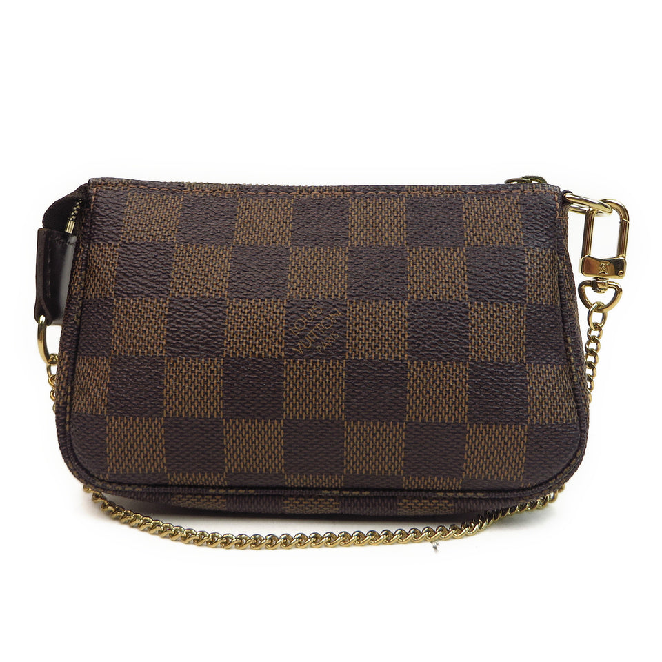 Louis Vuitton Damier Ebene Mini Pochette Accessories Back