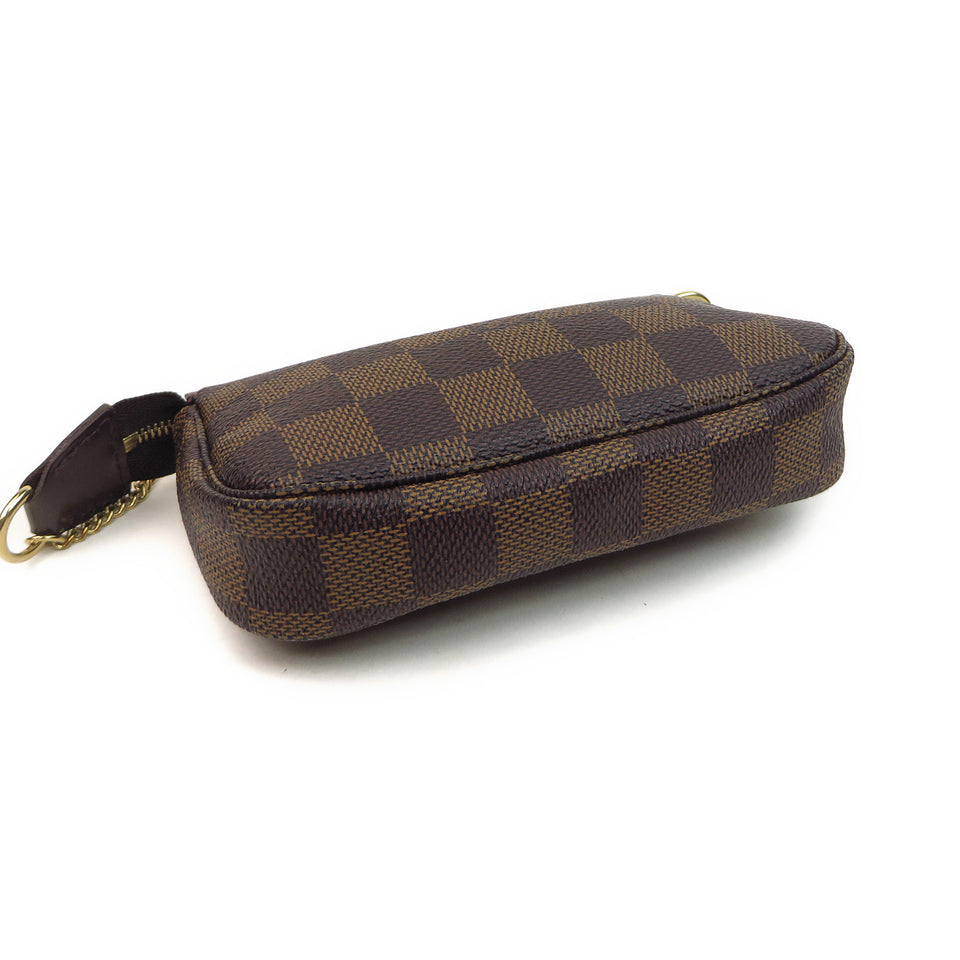 Louis Vuitton Damier Ebene Mini Pochette Accessories Bottom