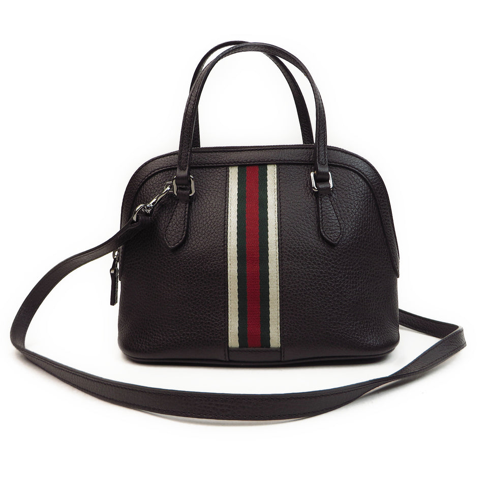 Shop Gucci Vintage Web Leather 2 Way Bag at Luxury Mart AU Sydney Australia. Front