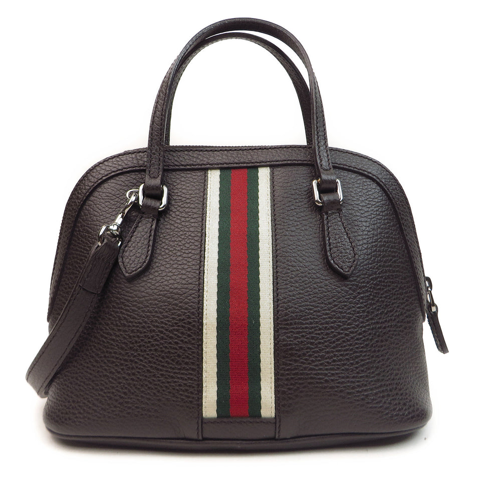 back Shop Gucci Vintage Web Leather 2 Way Bag at Luxury Mart AU Sydney Australia.