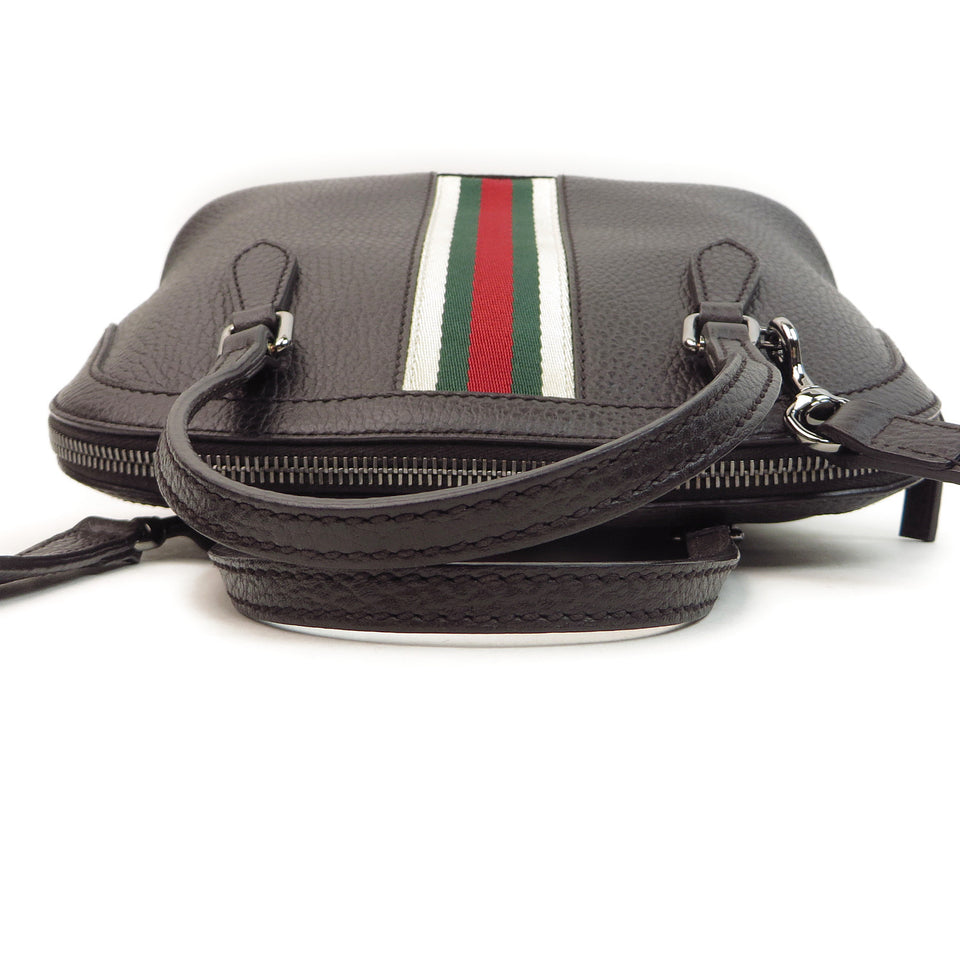 handle Shop Gucci Vintage Web Leather 2 Way Bag at Luxury Mart AU Sydney Australia.