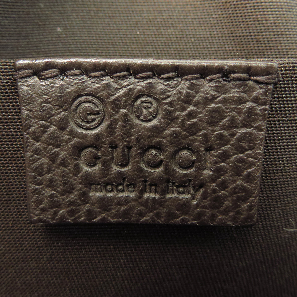 Shop Gucci Vintage Web Leather 2 Way Bag at Luxury Mart AU Sydney Australia. inside tag