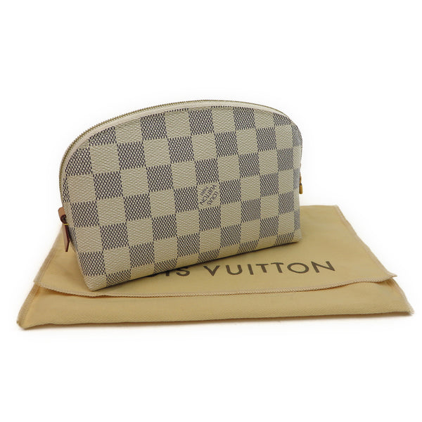 Louis Vuitton Damier Azur Cosmetic Pouch w dust bag