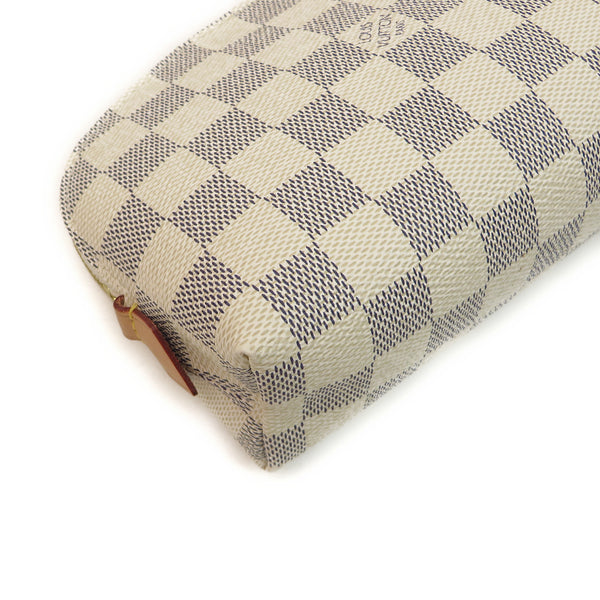 Louis Vuitton Damier Azur Cosmetic Pouch bottom corner