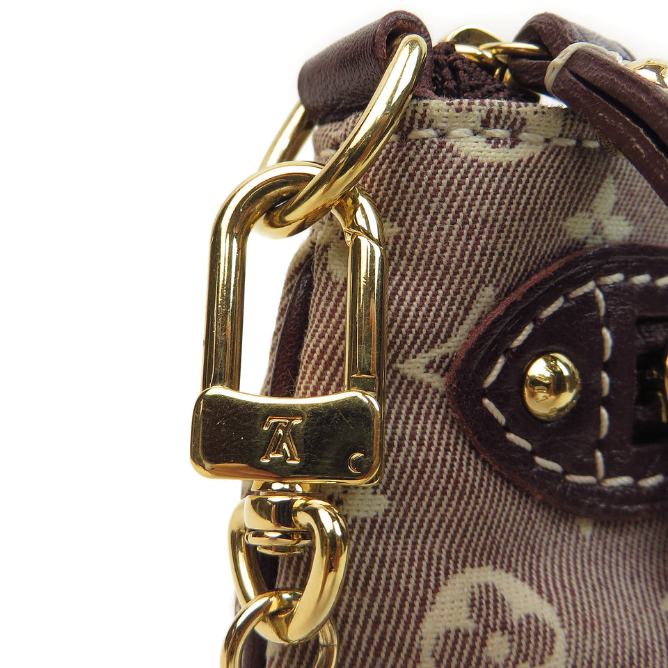 Louis Vuitton Monogram Idylle Mini Pochette Accessories gold snap closure