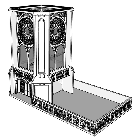 Cathedral Dice Tower