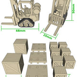 Mini Forklifts (x2) with Crates