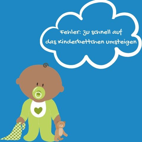 Illustration Baby Fehler Kinderbett