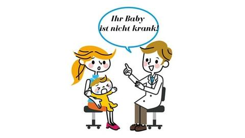 High need Baby schreit beim Kinderarzt Illustration