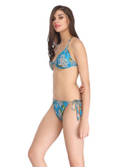 Clovia String Bra Brief Set - Blue, O / Blue, Bra and Panty Set Clovia Thailand