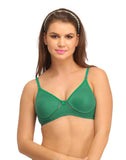 Clovia Cotton Rich Non Padded Wirefree T-Shirt Bra - Green, , Bra Clovia Thailand