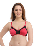 Clovia Cotton Non-Padded Wirefree T-Shirt Bra With Double Layers - Pink, , Bra Clovia Thailand