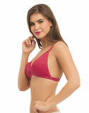 Clovia Cotton Non-Wired Non-Padded Bra With Detachable Straps - Pink, 32B / Pink, Bra Clovia Thailand