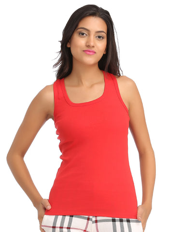 Cotton Camisole With Racer Back - Red, , Cami Clovia Thailand
