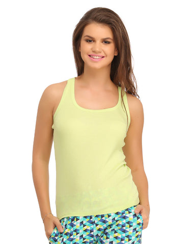 Cotton Camisole With Racer Back - Green, , Cami Clovia Thailand