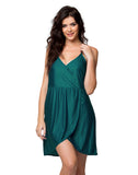 Clovia String Back Over Lap Short Nightdress - Green, , Nightwear Clovia Thailand