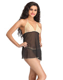 Clovia Short Check Printed Winter Short Nightdress - Grey, XL / Grey, Nightwear Clovia Thailand
