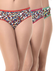 Set Of 3 Multicoloured Panties, , Panty Clovia Thailand