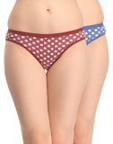 Miss Clyra Multicoloured Set Of 2 Panties, , Panty Clovia Thailand