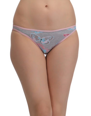 Cotton Low Waist Bikini - Pink