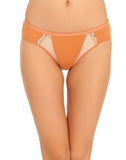 Cotton Mid Waist Bikinii With Lace Side Wings - Brown, , Panty Clovia Thailand