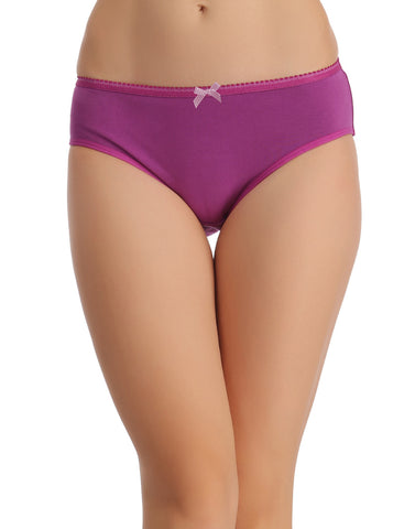 Clovia Cotton High Waist Hipster - Purple, , Panty Clovia Thailand