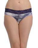 Cotton High Waist Hipster With Lacy Waist - Purple, , Panty Clovia Thailand