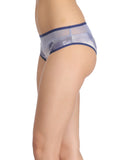 Clovia Cotton High Waist Hipster With Powernet Waist - Blue, S / Blue, Panty Clovia Thailand