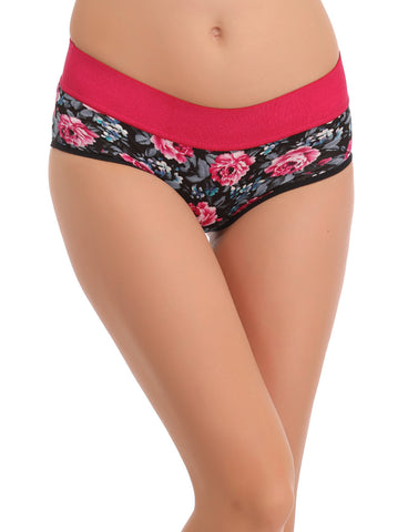 Clovia Cotton High Waisted, Tummy Smoothening Hipster - Pink, , Panty Clovia Thailand