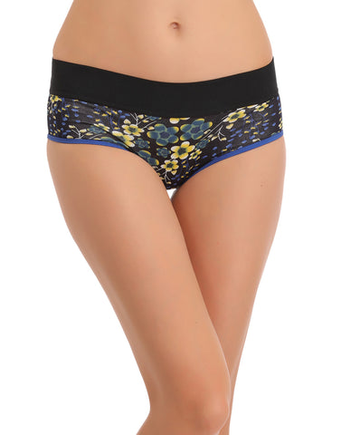 Clovia Cotton High Waisted, Tummy Smoothening Hipster - Blue, , Panty Clovia Thailand